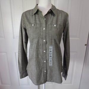 Carhartt Long Sleeve Button Down Shirt XS Green